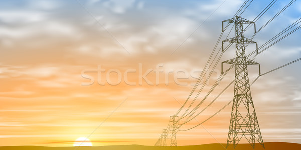 Electrical Power Lines  Stock photo © Binkski