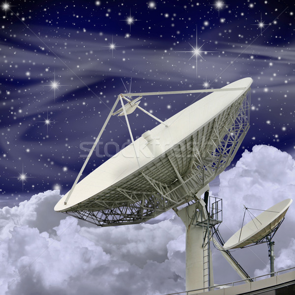 Large Satellite Dish Stock photo © Binkski