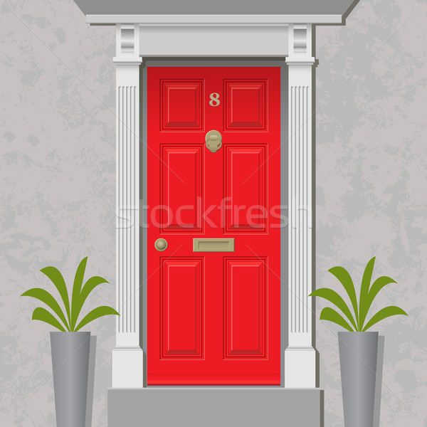 Red Door Stock photo © Binkski