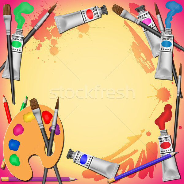 Art Equipment Background Stock photo © Binkski