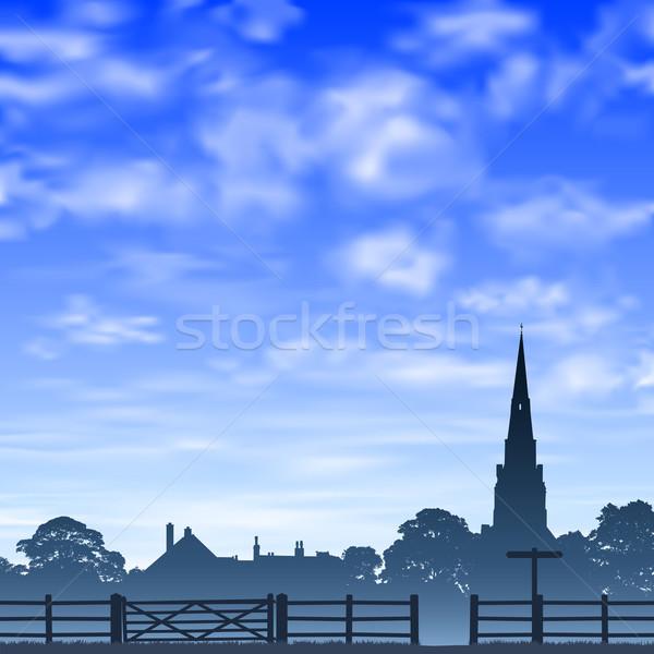Church Spire and Fence. Stock photo © Binkski