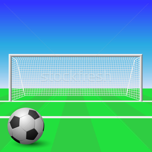 Soccer Goal Stock photo © Binkski