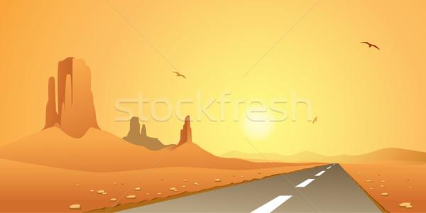 Desert Road Stock photo © Binkski