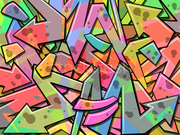 Graffiti kleurrijk abstract pijl vector verf Stockfoto © Binkski