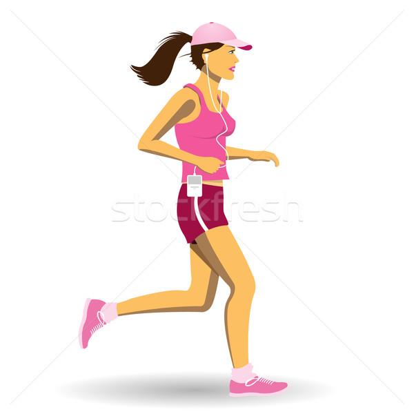 Woman Jogging Stock photo © Binkski