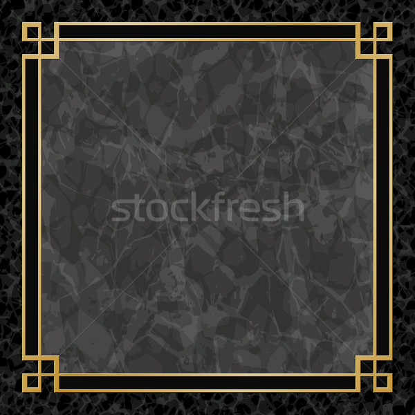 Marmer achtergronden goud frame zwarte grens Stockfoto © Binkski