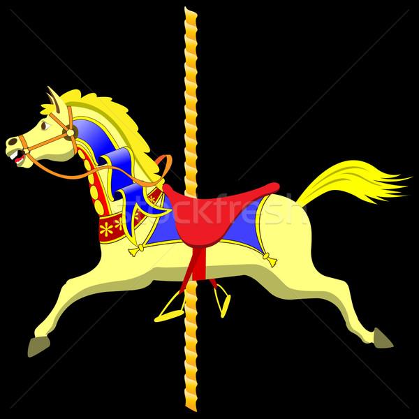 回転木馬 馬 カラフル ベクトル ストックフォト © Binkski