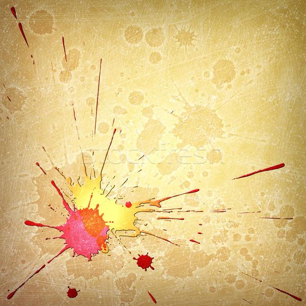 ストックフォト: グランジ · 塗料 · スプラッシュ · 値下がり · 汚い