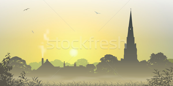 Country Landscape Stock photo © Binkski