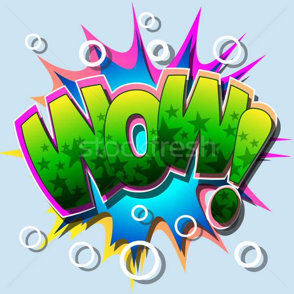 Illustratie wow abstract cartoon vector Stockfoto © Binkski