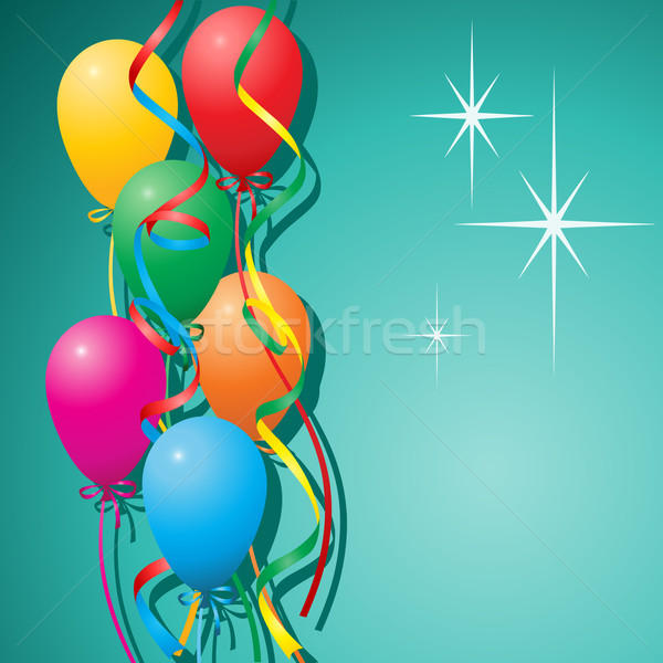 Stock photo: Balloons Background