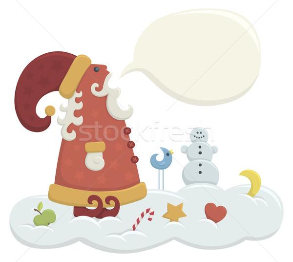 話し サンタクロース 実例 漫画 スタイル 雪 ストックフォト © Bisams