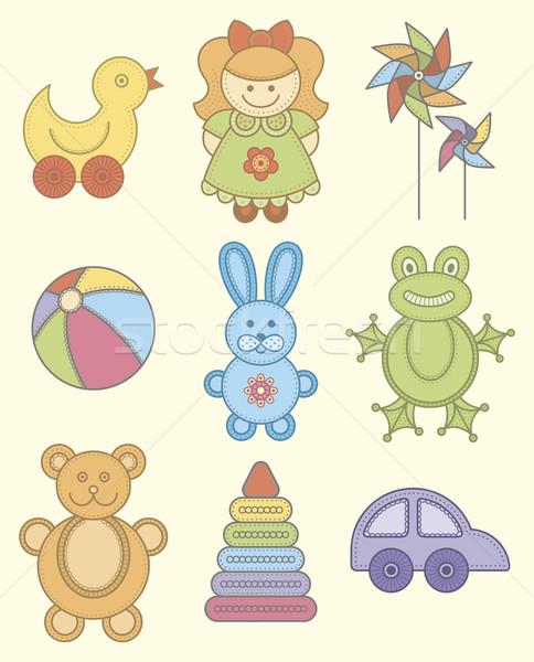 おもちゃ セット 赤ちゃん 幸せ 子 ボール ストックフォト © Bisams