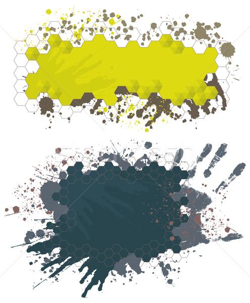 塗料 スプラッシュ バナー グランジ デザイン 要素 ストックフォト © Bisams