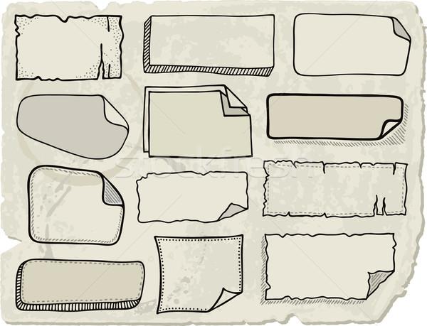 いたずら書き 注記 論文 セット 手描き ストックフォト © Bisams