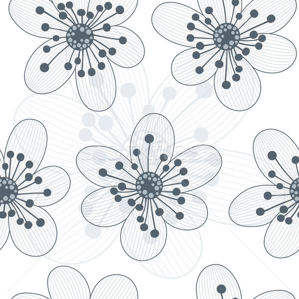 フローラル シームレス 花 春 抽象的な 美 ストックフォト © Bisams