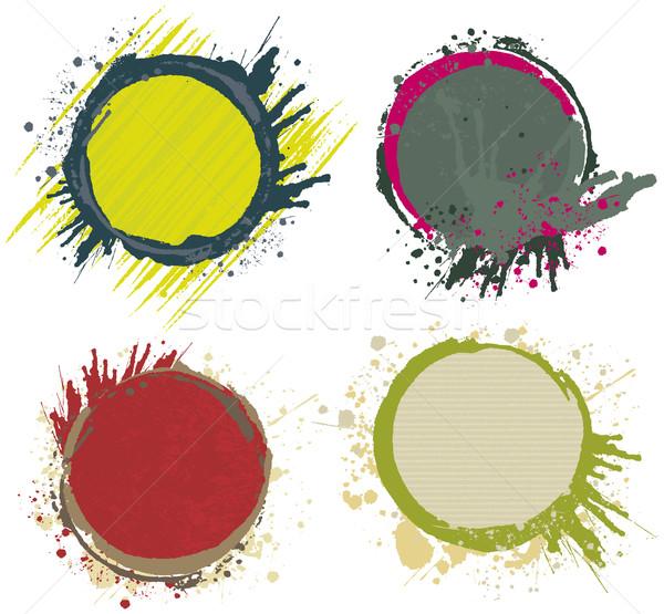 塗料 スプラッシュ フレーム サークル デザイン 要素 ストックフォト © Bisams