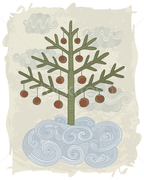 Doodle Christmas tree Stock photo © Bisams
