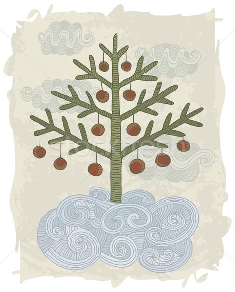 いたずら書き クリスマスツリー 実例 手描き 装飾された デザイン ストックフォト © Bisams
