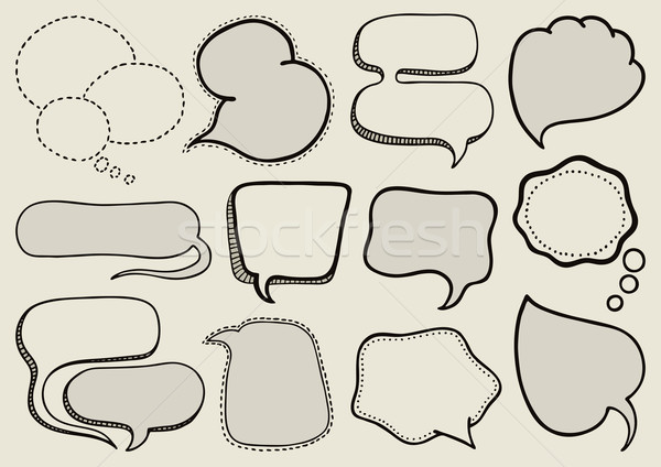 Speech bubbles Stock photo © Bisams