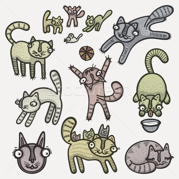 Doodle cats Stock photo © Bisams