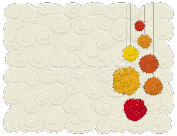 クリスマス 定型化された 背景 赤 ストックフォト © Bisams