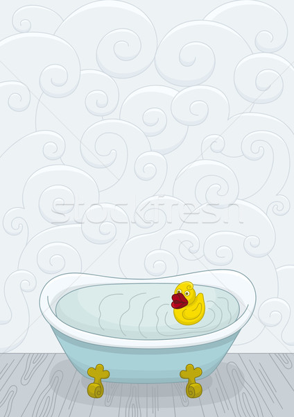 Duck in bathtub Stock photo © Bisams