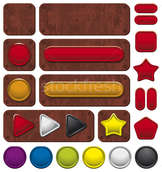 Buttons on rusty background Stock photo © Bisams