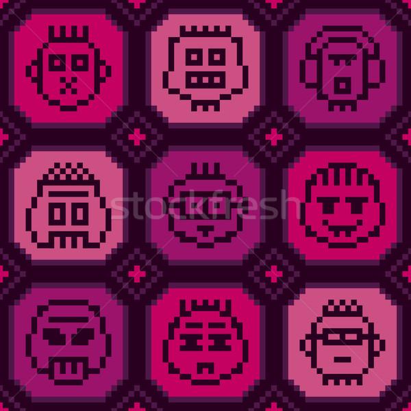 ピクセル パンク シームレス クール ストックフォト © Bisams