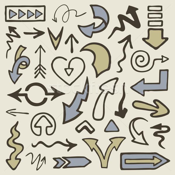 いたずら書き セット 手描き 手 にログイン ストックフォト © Bisams