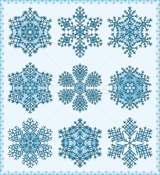 雪 セット 9 異なる 詳しい ストックフォト © Bisams