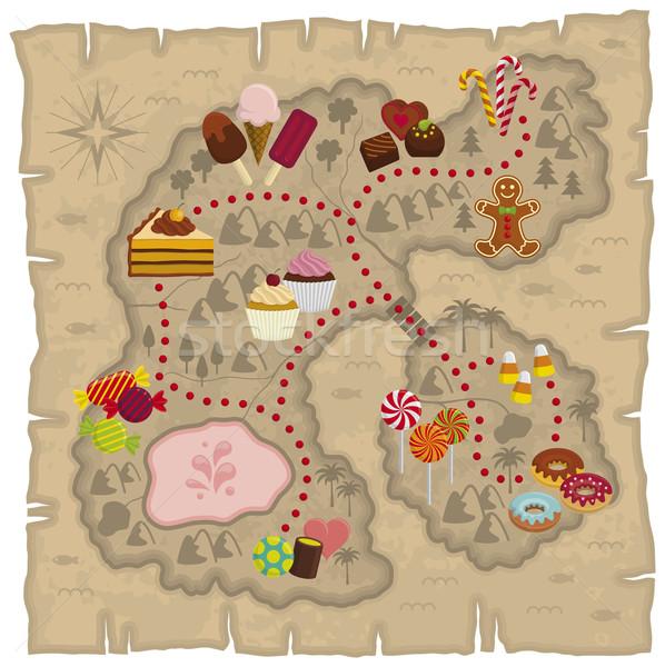 地図 実例 子供 食品 男 芸術 ストックフォト © Bisams