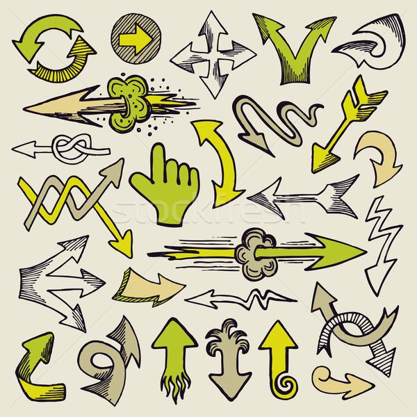 手描き セット いたずら書き 手 インク ストックフォト © Bisams