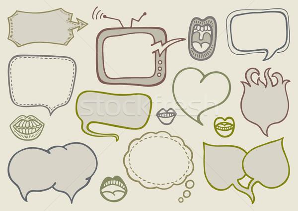いたずら書き 吹き出し セット 手描き 通信 バルーン ストックフォト © Bisams