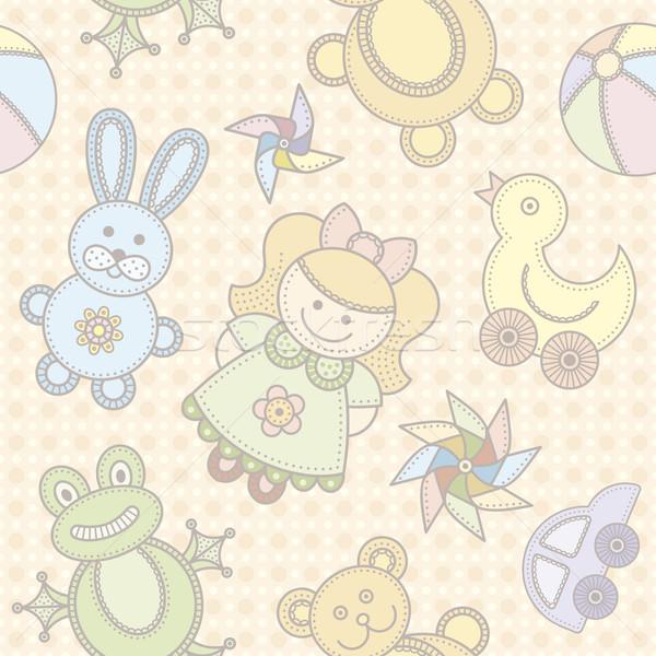 おもちゃ シームレス かわいい 少女 子供 子 ストックフォト © Bisams