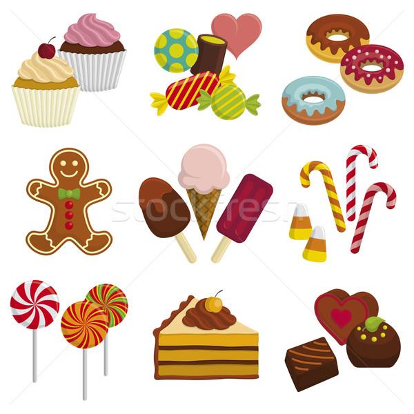 お菓子 セット 男 キャンディ トウモロコシ アイスクリーム ストックフォト © Bisams