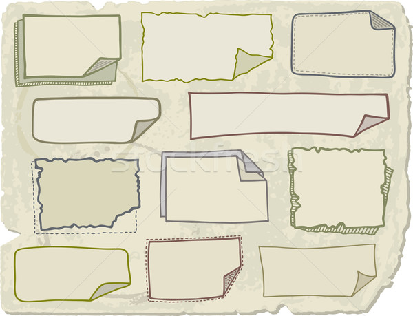 Doodle note papers Stock photo © Bisams