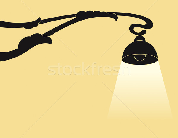 Background with lamp Stock photo © Bisams