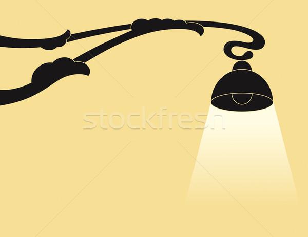ランプ シルエット アンティーク 光 都市 黒 ストックフォト © Bisams
