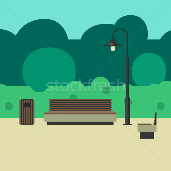 Outdoor furniture and lighting Stock photo © biv