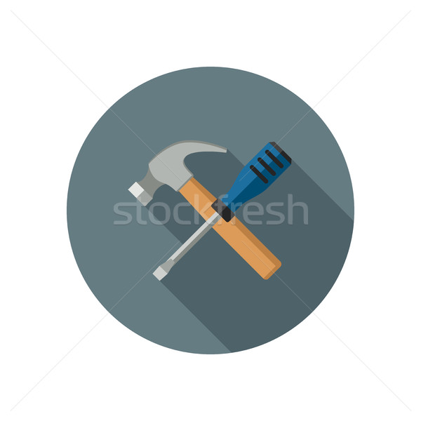 Hammer and screwdriver Stock photo © biv