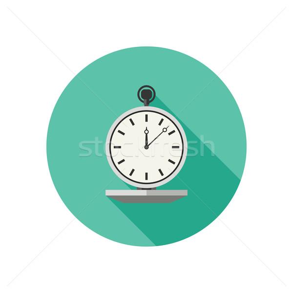 Horloge vector icon stijl stopwatch lang Stockfoto © biv