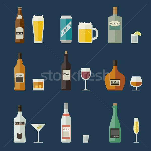 Stock fotó: üvegek · szemüveg · italok · buli · sör · üveg