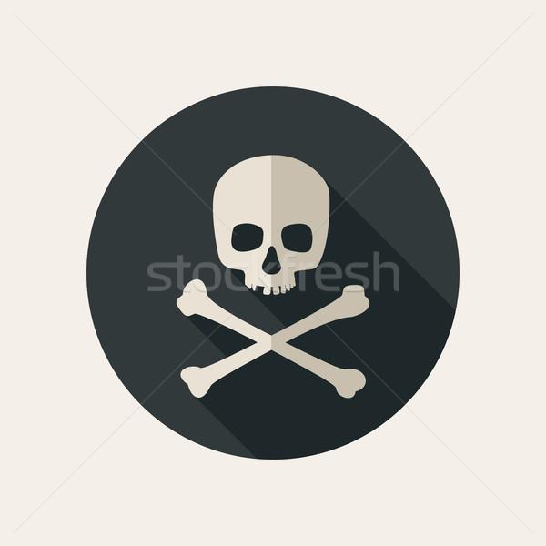 Skull and crossbones icon Stock photo © biv