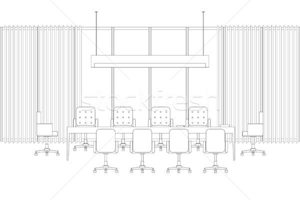 Meeting room line interior Stock photo © biv