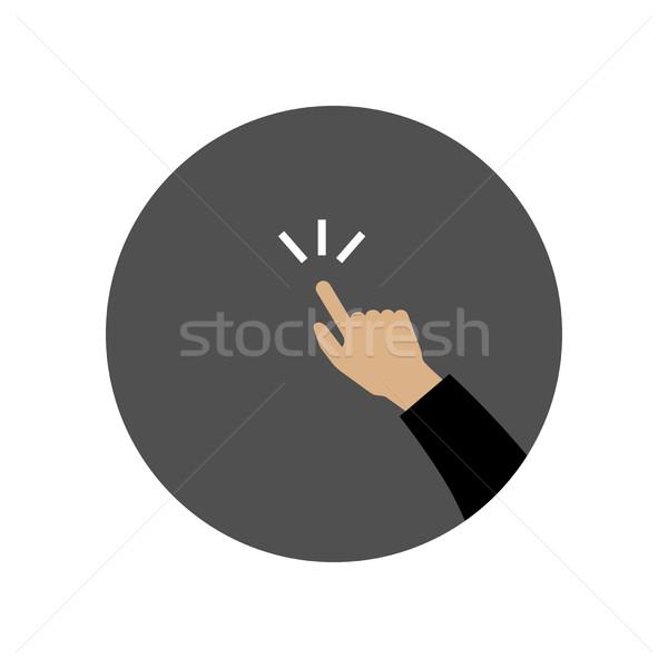 El işaret ikon parmak vektör simgesi basit Stok fotoğraf © biv