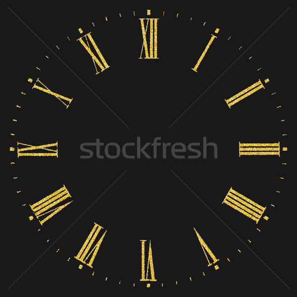Roman numeral clock Stock photo © biv