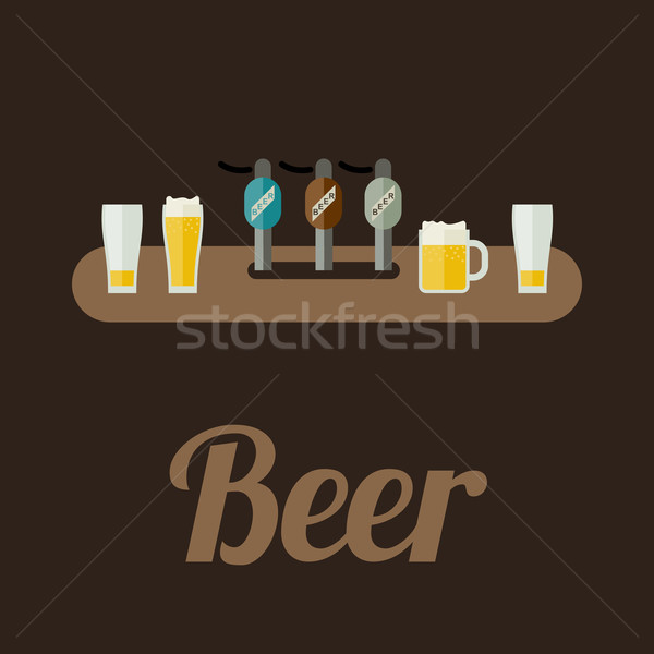 Bar counter with beer Stock photo © biv