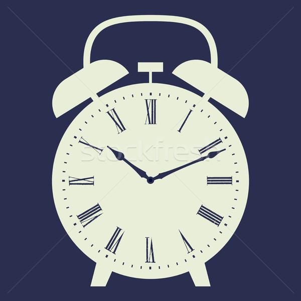 Clock illustration on dark blue background. Stock photo © biv