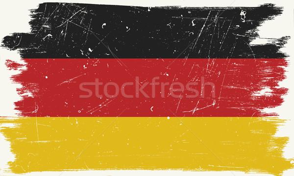 Grunge bayrak sınır doku dünya arka plan Stok fotoğraf © biv